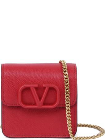 Valentino Garavani Vlogo Leather Shoulder Bag