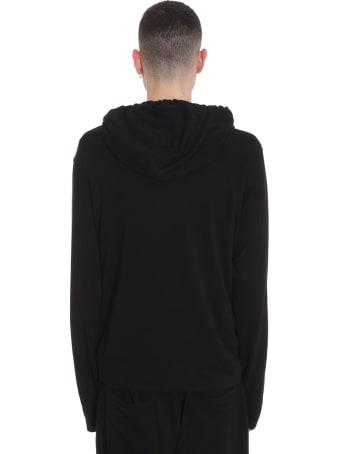 James Perse Sweatshirt In Black Cotton