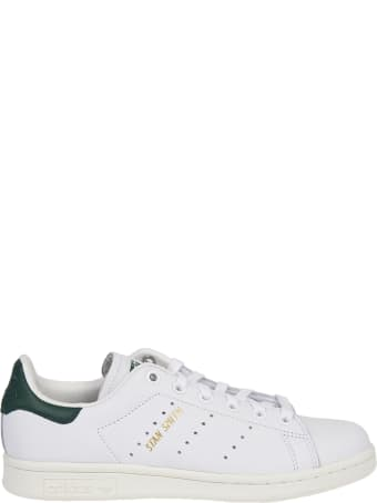 Adidas Originals Stan Smith White And Green Sneakers