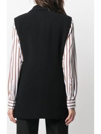 Alberto Biani Double-breasted Black Cady Vest