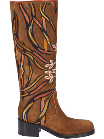 Santoni Embroidered Boots