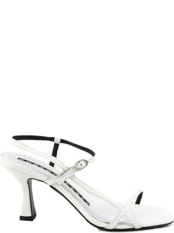 Roberto Festa White Leather Geneve Sandal