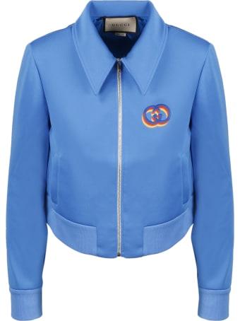 Gucci Gg Tricolor Zip Jacket