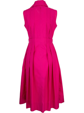 Marni Cotton Dress With Pleats Fuchsia