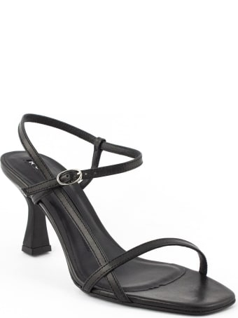 Roberto Festa Black Leather Geneve Sandal