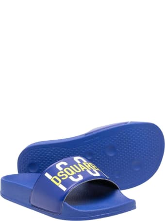 Dsquared2 Blue Slippers