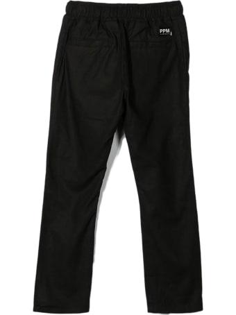Paolo Pecora Black Linen-blend/cotton-blend Trousers