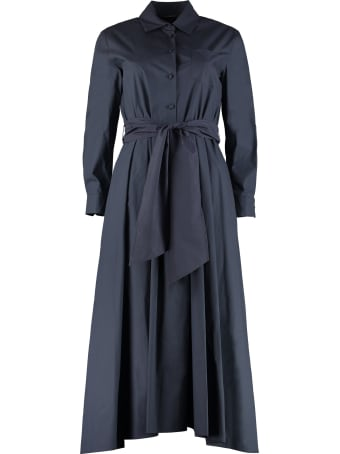 Weekend Max Mara Jums Belted Cotton Shirtdress
