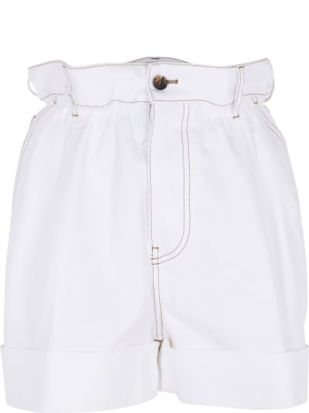 Miu Miu Back Pocket Logo Detail Shorts