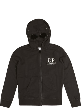 C.P. Company Undersixteen Logo Zipped Hoodie