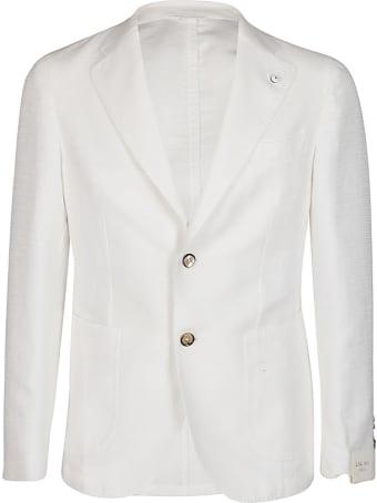 L.B.M. 1911 White Cotton Blend Blazer