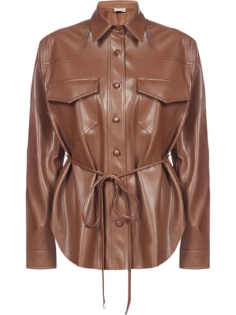 Blanca Vita Cleo Vegan Leather Shirt-jacket