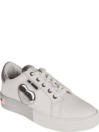 Love Moschino Metallic Heart Sneakers