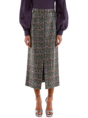 Marco de Vincenzo Multicolor Tweed Skirt