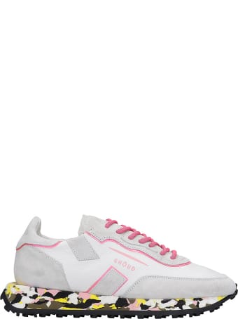 GHOUD Rush Sneakers In White Suede And Leather