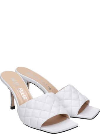 Marc Ellis Sandals In White Leather