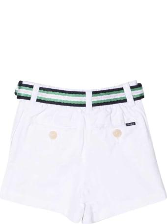 Ralph Lauren White Shorts With Belt