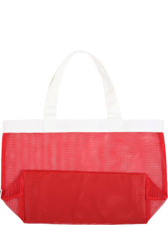 Mini Rodini Red Bag For Kids With Yellow Logo