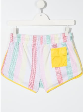 Marc Jacobs Striped Shorts With Allover Logo