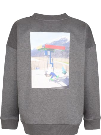Plan C Printed Crew-neck Sweatshirt