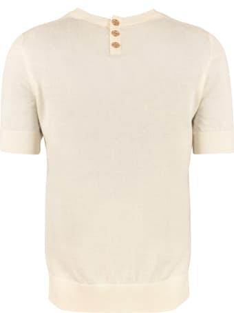 Tory Burch Iberia Short Sleeve Sweater