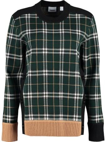 Burberry Long Sleeve Crew-neck Sweater