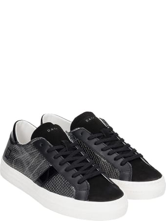D.A.T.E. Hill Low Sneakers In Silver Suede And Leather