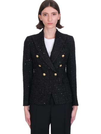 Tagliatore 0205 Jalicya Blazer In Black Cotton