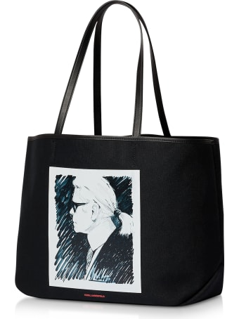 Karl Lagerfeld Karl Legend Canvas Tote