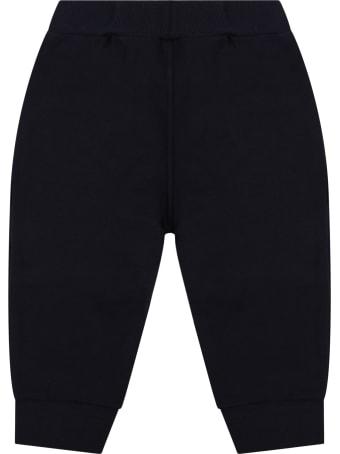 GCDS Mini Blue Sweatpants For Babykids With Logo