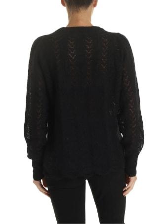 Ballantyne Black Lace Sweater
