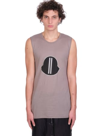Moncler + Rick Owens Sl Tee T-shirt In Taupe Cotton