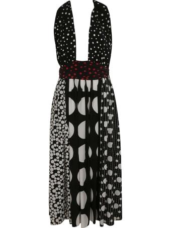 Dolce & Gabbana Polka Dot Printed Long Dress