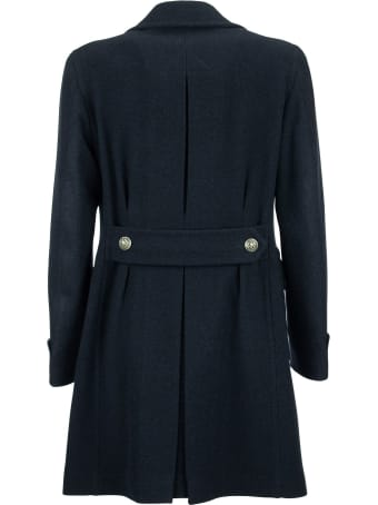 Tagliatore Double-breasted Coat In Wool