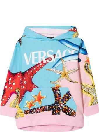 Young Versace Print Sweatshirt