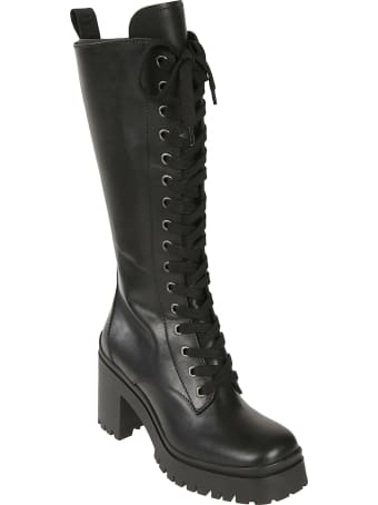 Miu Miu Chunky Sole Lace-up Boots