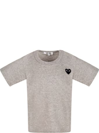 Comme des Garçons Play Melanged Grey T-shirt With Heart