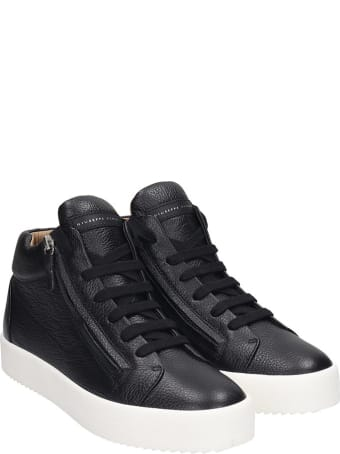 Giuseppe Zanotti Justy Sneakers In Black Leather