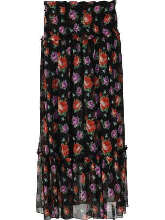 MSGM Printed Georgette Maxi Skirt