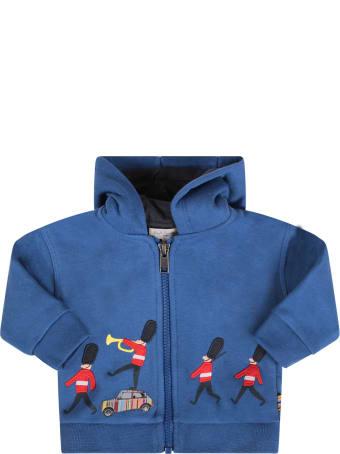 Paul Smith Junior Royal Blue Babyboy Sweatshirt With Queen's Guard