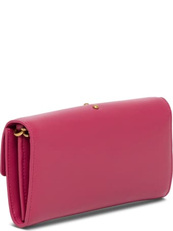 Pinko Love Leather Crossbody Bag