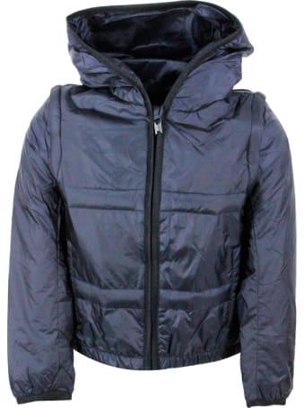 Emporio Armani Nylon Jacket With Hood And Detachable Sleeves