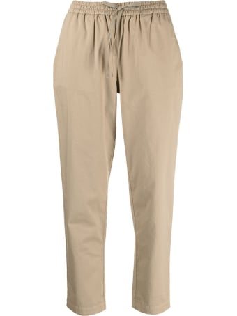 SEMICOUTURE Buddy Crop Pants In Beige Cotton