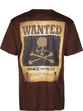 MASTERMIND WORLD Brown Cotton T-shirt