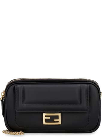 Fendi Easy Baguette Leather Mini Crossbody Bag
