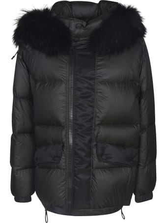 Mr & Mrs Italy Fur Applique Padded Jacket