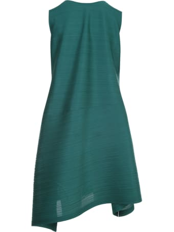 Pleats Please Issey Miyake Vein Sleeveless Midi Dress
