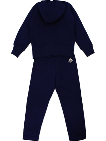 Moncler Blue Cotton Tracksuit Set