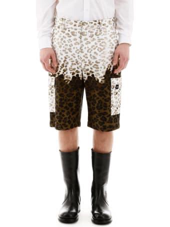MSGM Leopard Print Bermuda Pants