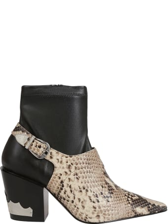 Toga Pulla Toga Pulla Snakeskin Buckle Detail Boots